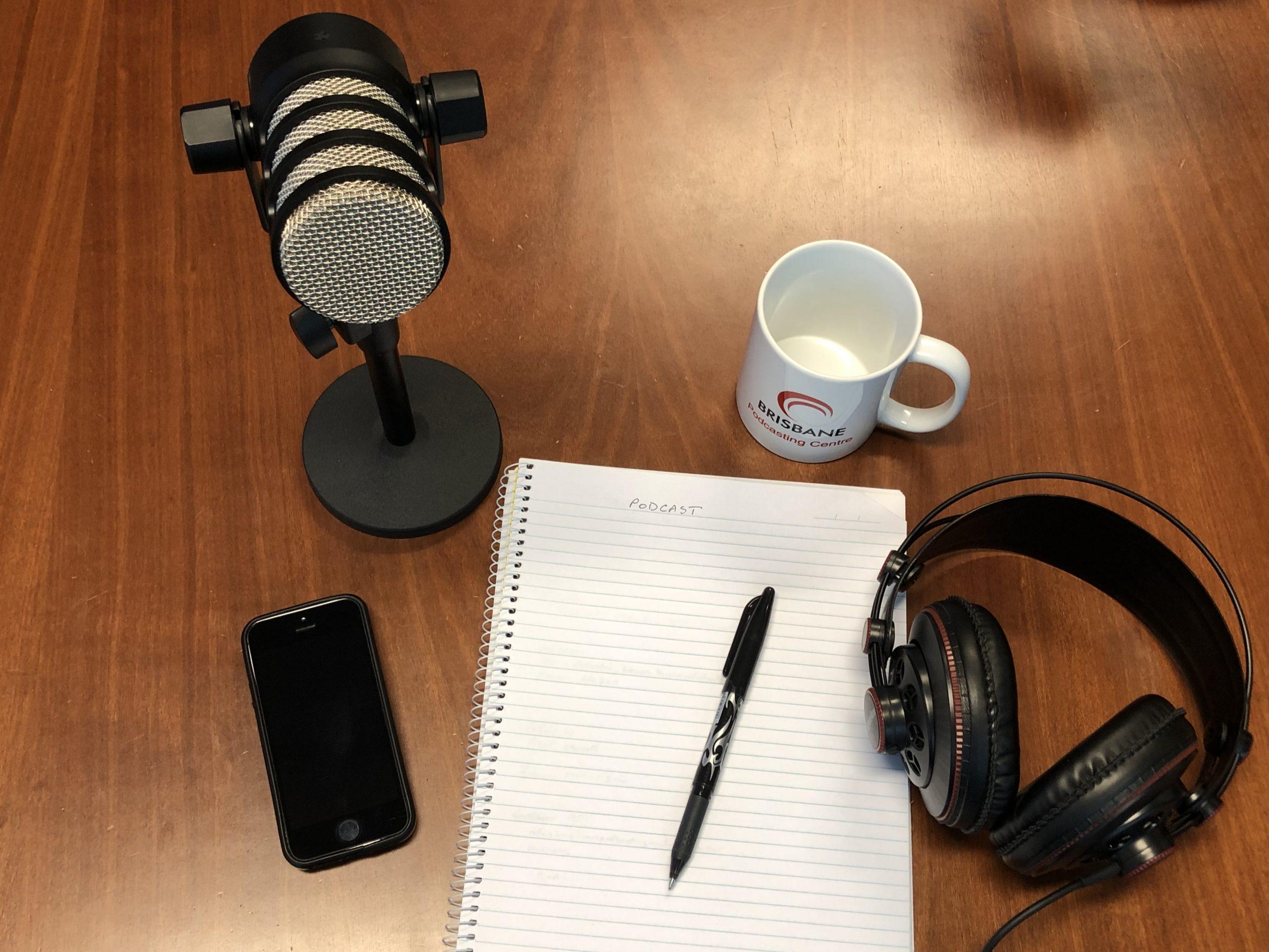 podcast desk